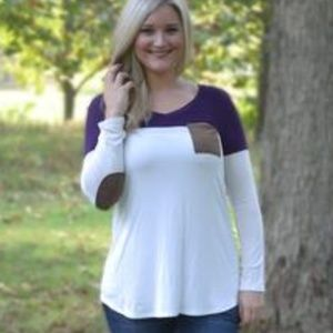 Carry You In My Pocket Long Sleeve Tee - Plum
